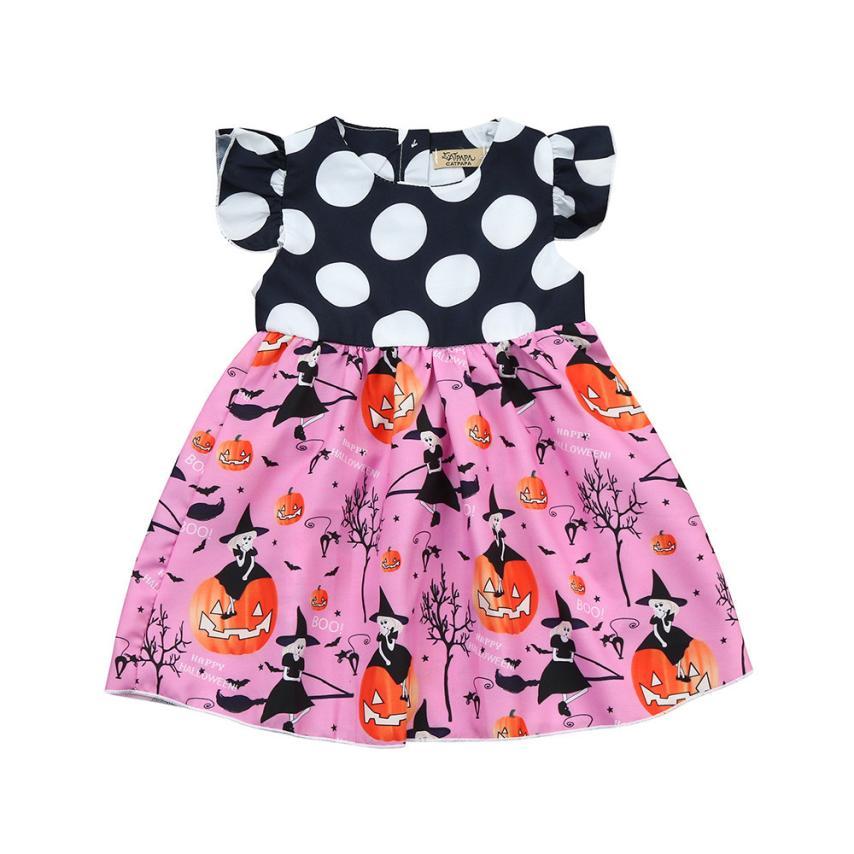 3eda91a425af children clothing Toddler Kids Baby Girls Halloween Pumpkin Cartoon  Princess Dress Outfits Clothes Children Clothing Baby Wear-in Dresses from  Mother & Kids ...