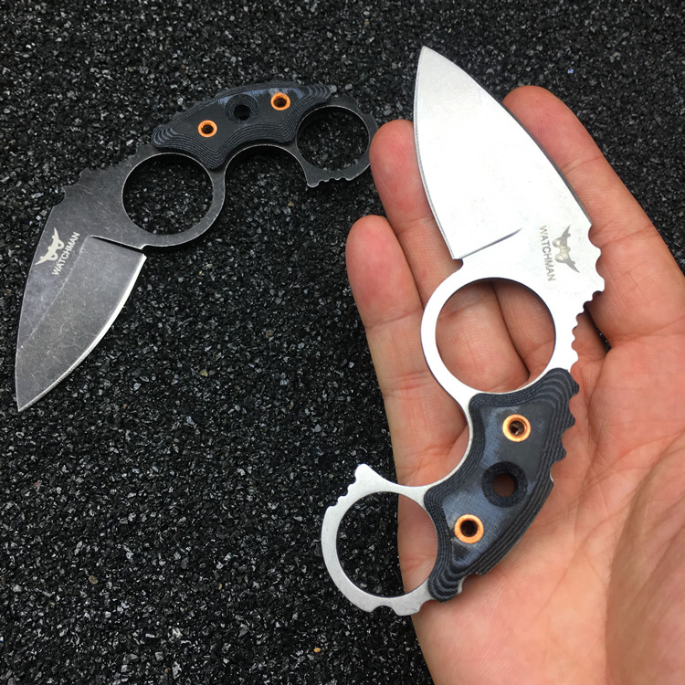Watchman Claw Karambits Fixed Blade  Neck Knife Tactical Hunting High Quality Survival EDC Tool Collection Factory sale MH187-B