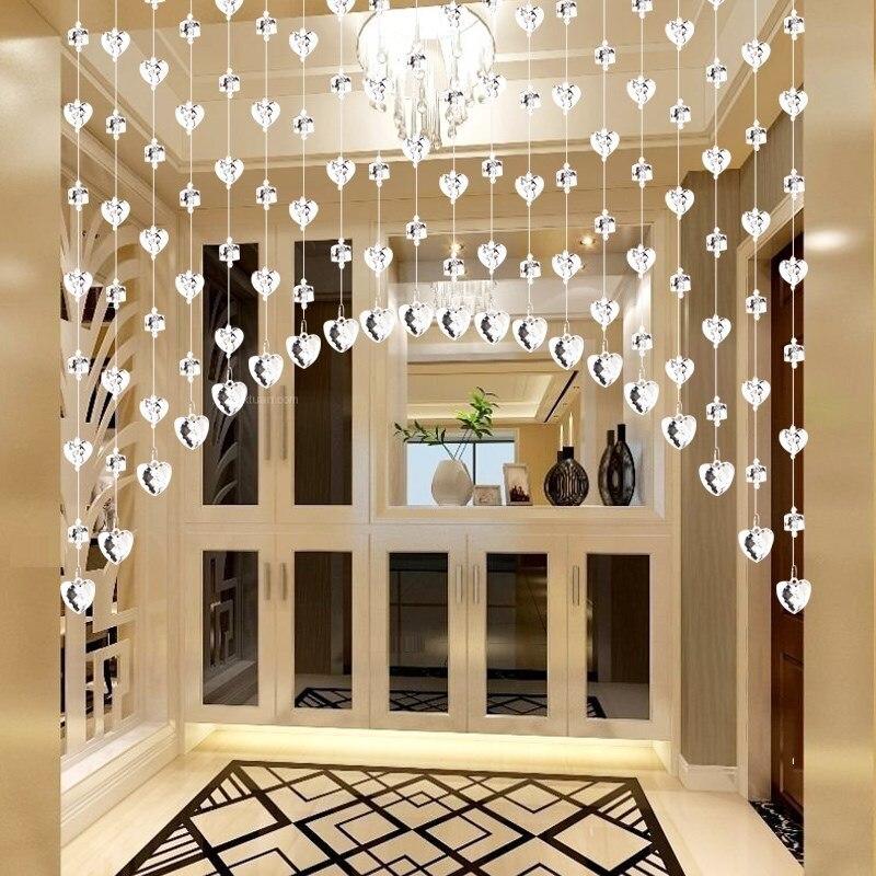 20 pièces perle rideau cloison décorative salon beauté cour porte de mariage Restaurant bricolage écran diviseur décoration