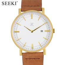 JC Collection Vogue Quartz Watches Real Leather-based Strap Ladies Wristwatch Classic Gold Watch Informal relogio feminino