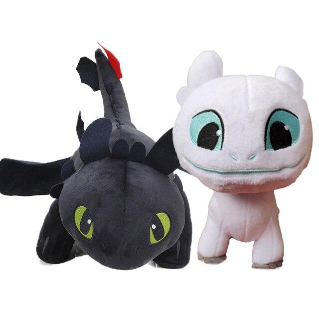 Pacote de 15 centímetros 22 2 cm Branco 3 How to Train Your Dragon Desdentado Fúria da Noite Brinquedo de Pelúcia Macia branco Dragão Bicho de pelúcia Boneca Brinquedos