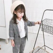 DFXD High Quality Children Clothing Set 2018 Autumn New Brand Toddler Boys Girls Long Sleeve Single Button Blazer+Pant 2pc 2-8Y