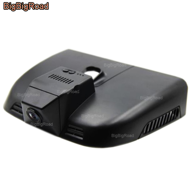 цена BigBigRoad Car Wifi DVR Video Recorder Dash Cam Camera Car Black Box Wide Angle FHD 1080P For Mercedes Benz Vito 2014 2015 2016 в интернет-магазинах