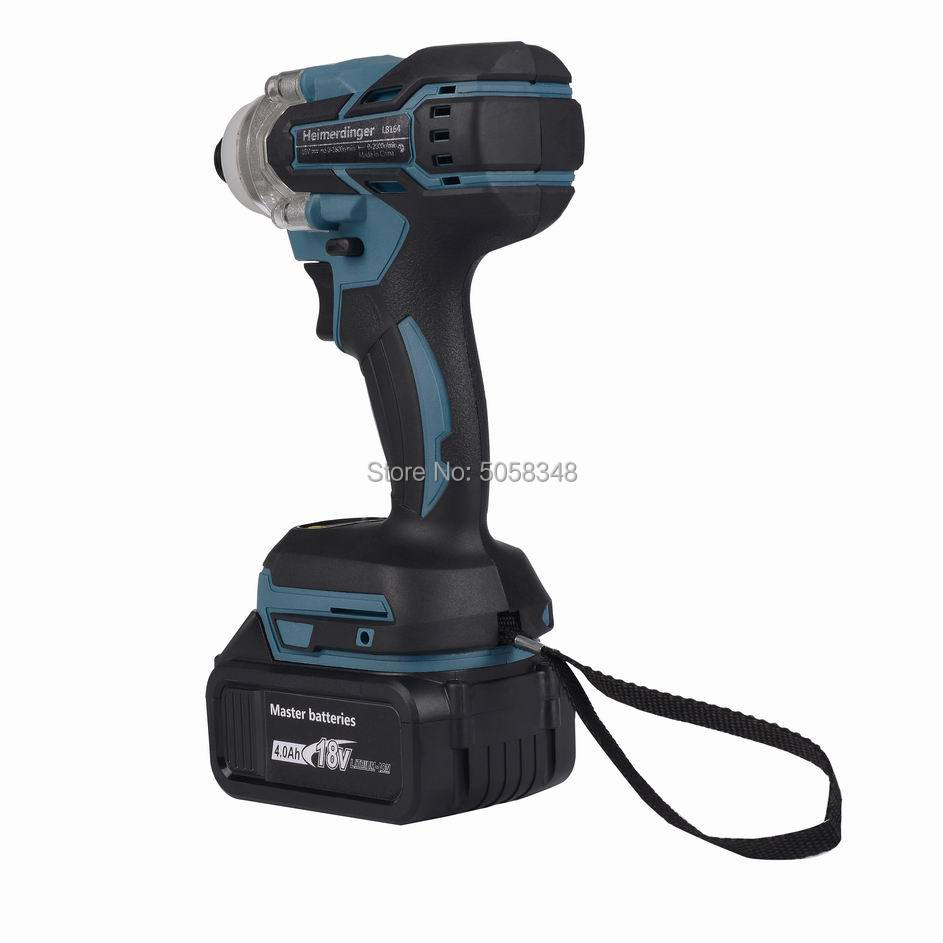 Image 5 - Electric Rechargeable cordless brushless impact driver drill with one 18V 4.0Ah Lithium Battery-in Electric Drills from Tools on