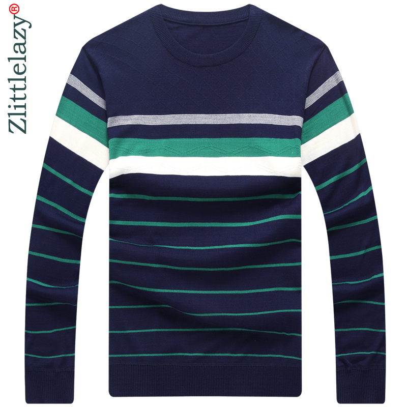 the best attitude c0ffc 4f08c US $13.64 49% OFF|2019 designer pullover striped men sweater dress thin  jersey knitted sweaters mens wear slim fit knitwear fashion clothing  10026-in ...