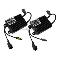 TAITIAN 2PC12V 100W Xenon HID Ballast Replacement Conversion for All Car Xenon Bulbs Quick Start100w ballast in Car Light Source