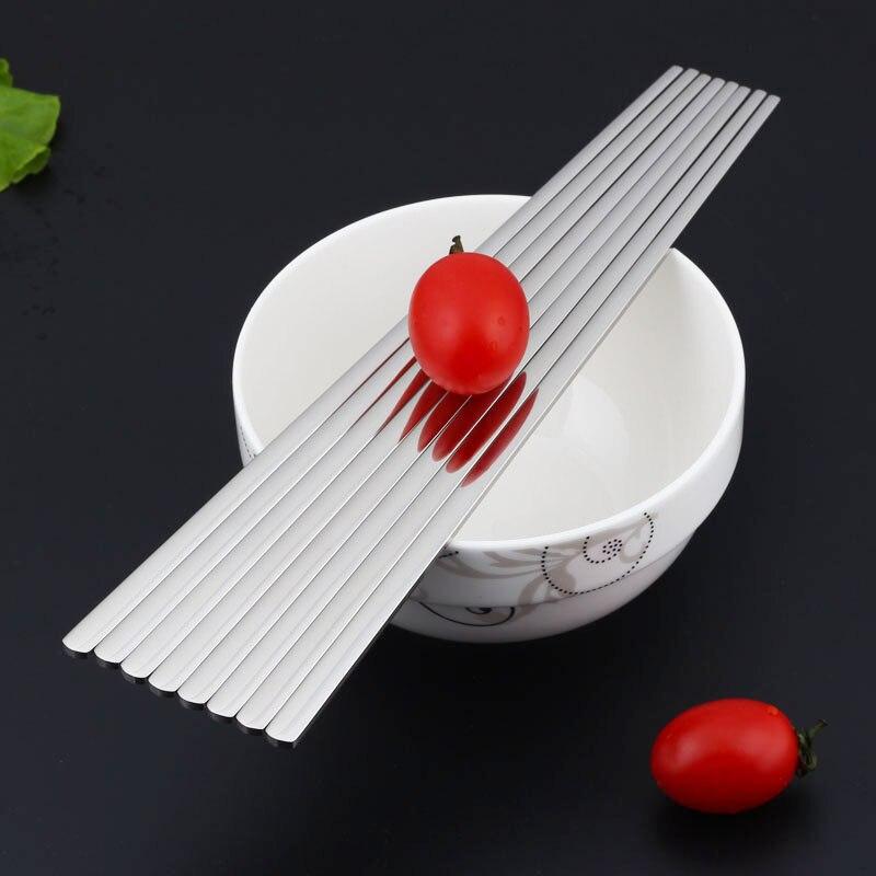 5pairs 304 nehrđajućeg čelika korejski štapići za jelo japanes - Kuhinja, blagovaonica i bar - Foto 6