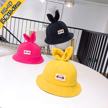 цены 2019 3m to 1 years old han edition of infants and young children outdoor girl fisherman hat baby bunny ears basin hat XA 227
