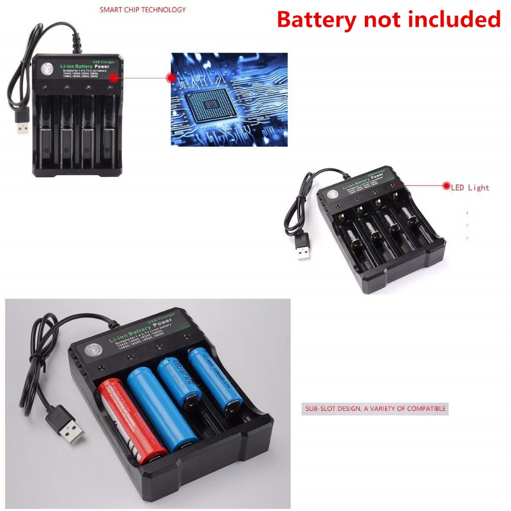 1PCS 4.2V 18650 Battery Charger Rechargeable Li-ion Battery Charger For 18650 10440 14500 16340 16650 batteries Charger