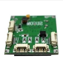مصغرة PBC وحدة تبديل PBC OEM وحدة صغيرة الحجم 4 منافذ شبكة مفاتيح لوحة دارات مطبوعة وحدة صغيرة محول ايثرنت 10/100Mbps OEM/ODM