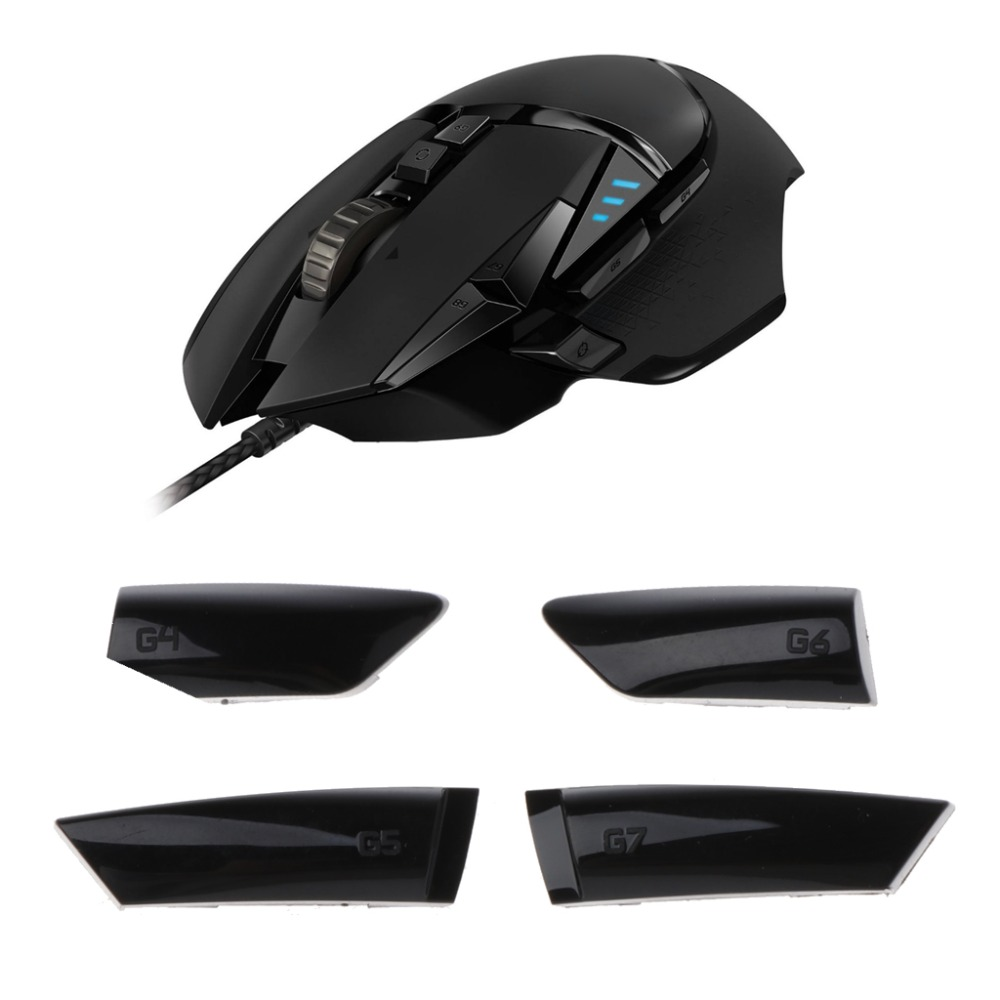 4Pcs Side Keys Side Buttons G4 G5 G6 G7 for Logitech G900 G903 Wired Wireless Mouse Mouse Accessories