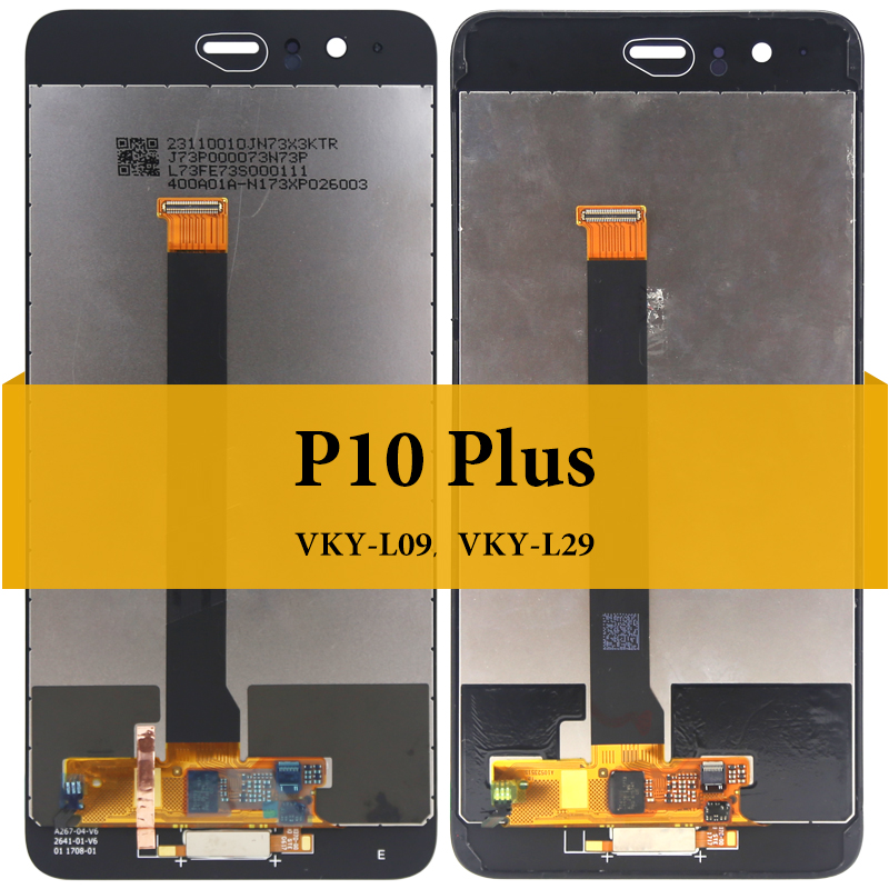 Image 2 - For HUAWEI P10 Plus VTR L09 LCD Screen 1PC 100% Tested No Dead Pixel New 5.5 inch Replacement Display Touch Digitizer Compatible-in Mobile Phone LCD Screens from Cellphones & Telecommunications