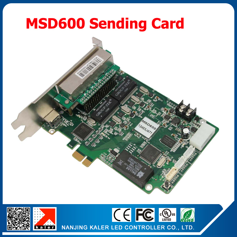 Nova Full Color LED Sending Card MSD600 2048*1152 pixel Video Display Sign Boad Control Card with 1 Light Sensor InterfaceNova Full Color LED Sending Card MSD600 2048*1152 pixel Video Display Sign Boad Control Card with 1 Light Sensor Interface