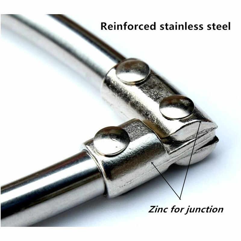 Triángulo hueco de acero inoxidable dip net de diámetro del anillo 40 cm-60 cm para la red de aterrizaje de la cabeza tuck net accesorios plegables al aire libre