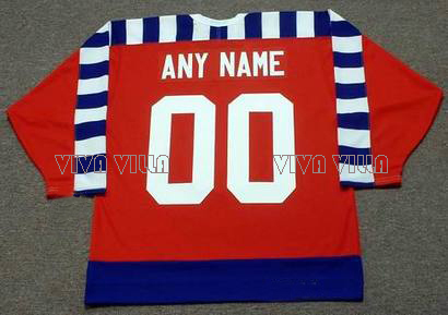 Throwback Hockey Jersey Personality customization Any Name Any Number All Stitched Logos Ice Hockey Jersey S-4XL Free Shipping