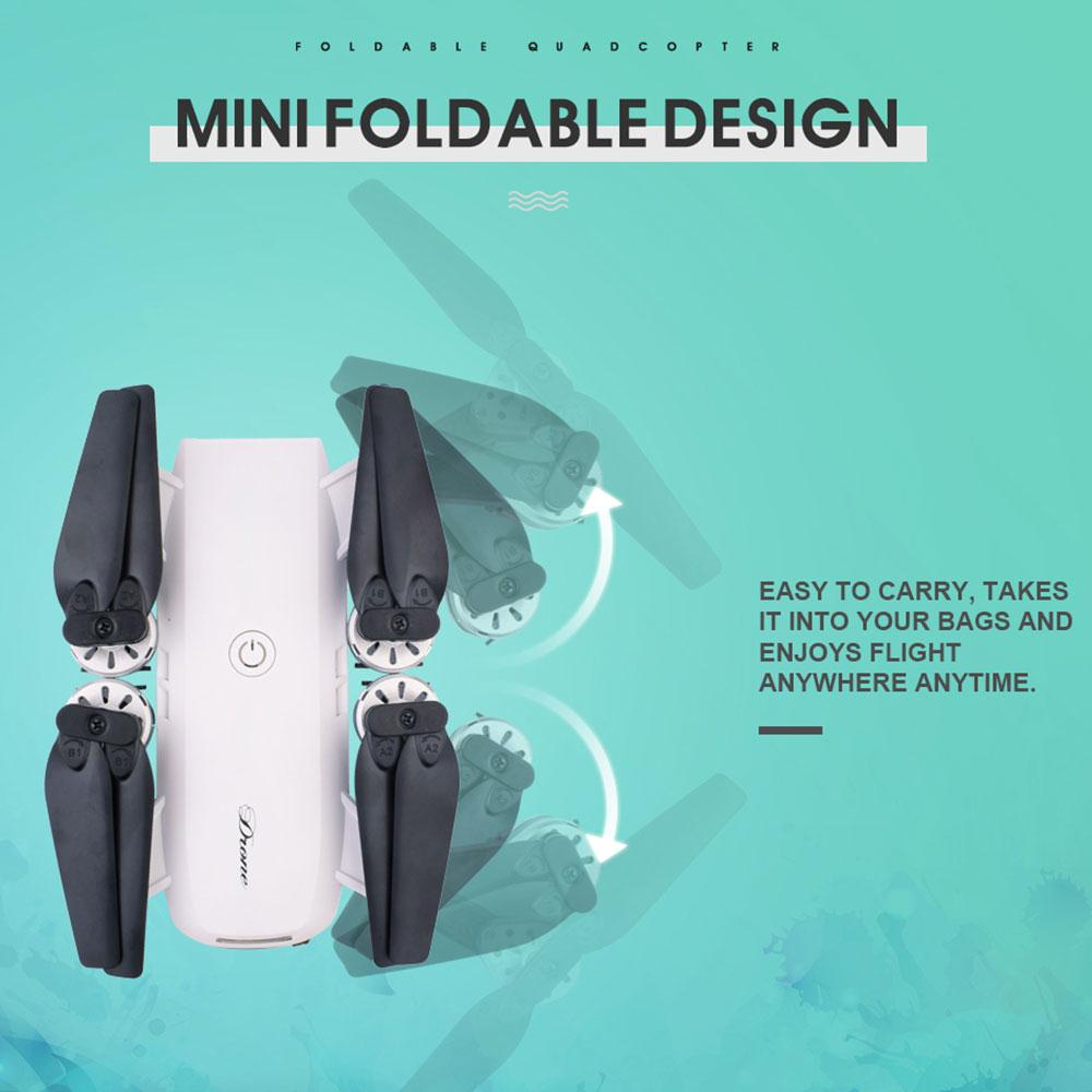 Esddi Foldable 2.4GHz 4 Channel 6-Axis Gyro WiFi FPV HD 2.0MP Wide Angle Camera Altitude Hold Remote Quadcopter Aircraft Drone великие реки астра б1