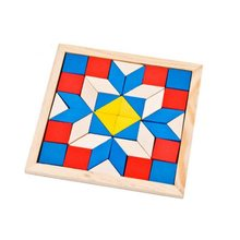 Montessori Triangle wooden puzzles for kids 2-4 years old childrens jigsaw puzzle early education toys learning games
