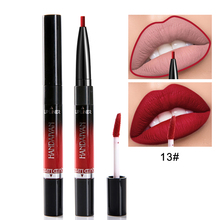 Liquid Lipstick Double Ended Lip Kit  Matte Lipsticks Tint Makeup Cosmetics Liner Long Lasting Nude Gloss Fast Ship