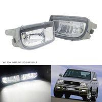 ANGRONG 2pcs For Toyota Land Cruiser Amazon Fog Light Lamp 30W SAMSUNG LED Bulb Left & Right