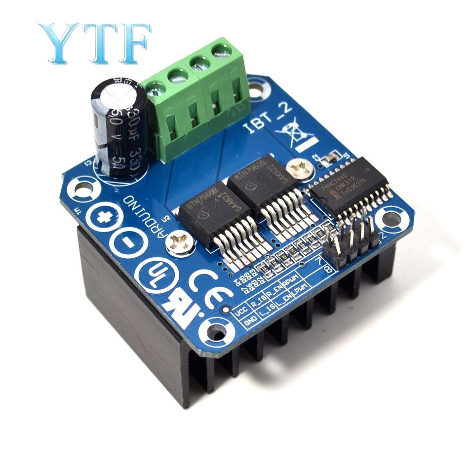 Double BTS7960 43A H-bridge High-power Motor Driver Module/ Diy Smart Car Current Diagnostic BTN7960