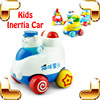 Christmas Gift Children Iinertia Car 4 PCS Set Friction Toys For Kids Cartoon Vehicle Toy Funny