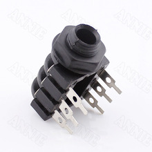100pcs/lot 6.35mm Microphone Plug 6.5 Dual Track Microphone Socket/ Leech Socket Dual-channel