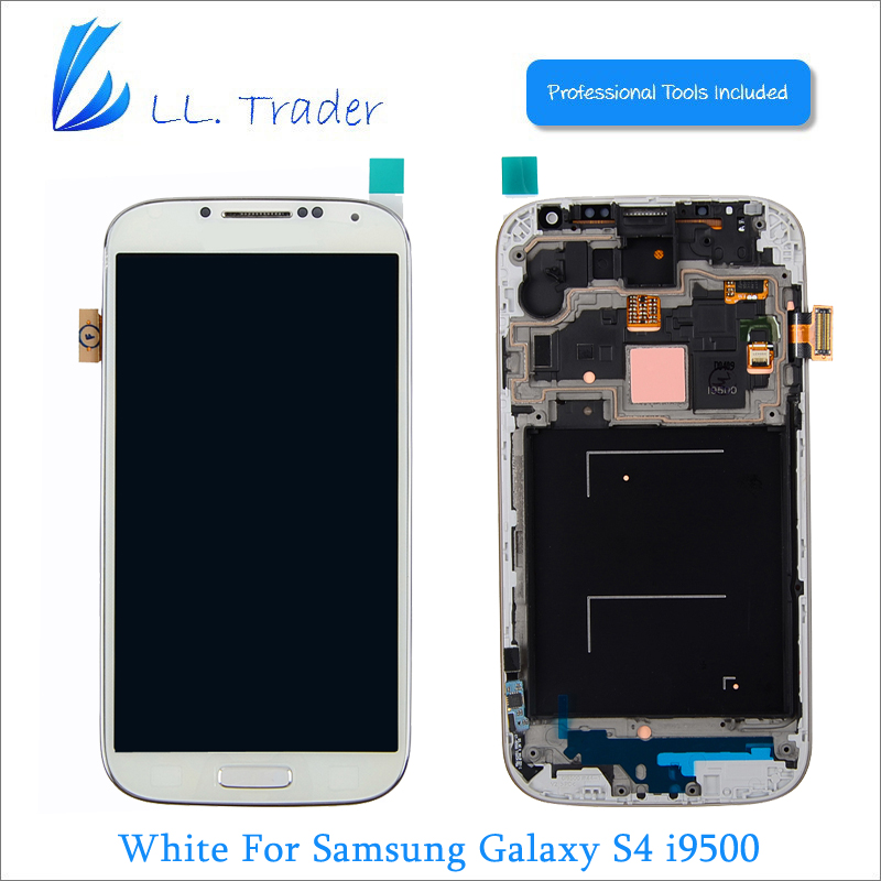 LL TRADER White Display Replacement Screen for Samsung Galaxy S4 Screen Parts i9500 LCD Touch Screen & Digitizer Assembly+Tools