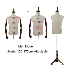 New Models Props Men's Clothing Shops Window Display Hangers Mannequin Body Can Pin by Needle Outside Is Fabric M SIZE