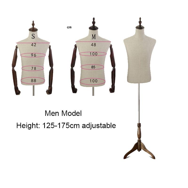 Nouveaux Modèles Accessoires Hommes de Vêtements Magasins Fenêtre D'affichage Cintres Mannequin Corps Peut Pin par Aiguille À L'extérieur Est Tissu M TAILLE