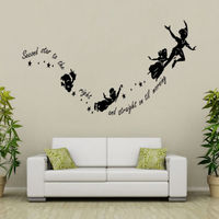 Peter Pan Second Star Wall Sticker Vinyl Decal DIY Kids Nursery Decor Mural Art