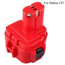 Batterie Rechargeable Cncool 12V 2000mAh ni cd pour Makita 1220 1222 1233 1234 19268 5 accumulateurs de batterie de rechange pour outils électriques