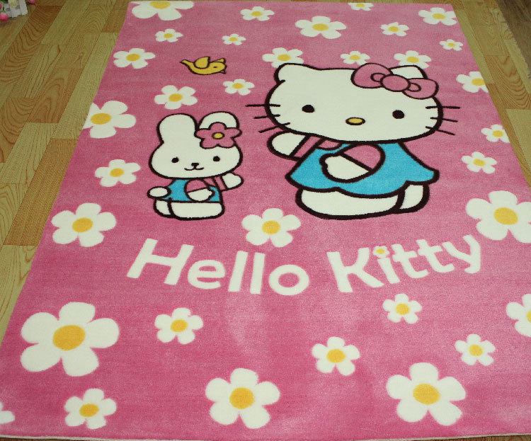 Free Shipping Hello Kitty Acrylic Room Carpet Cartoon