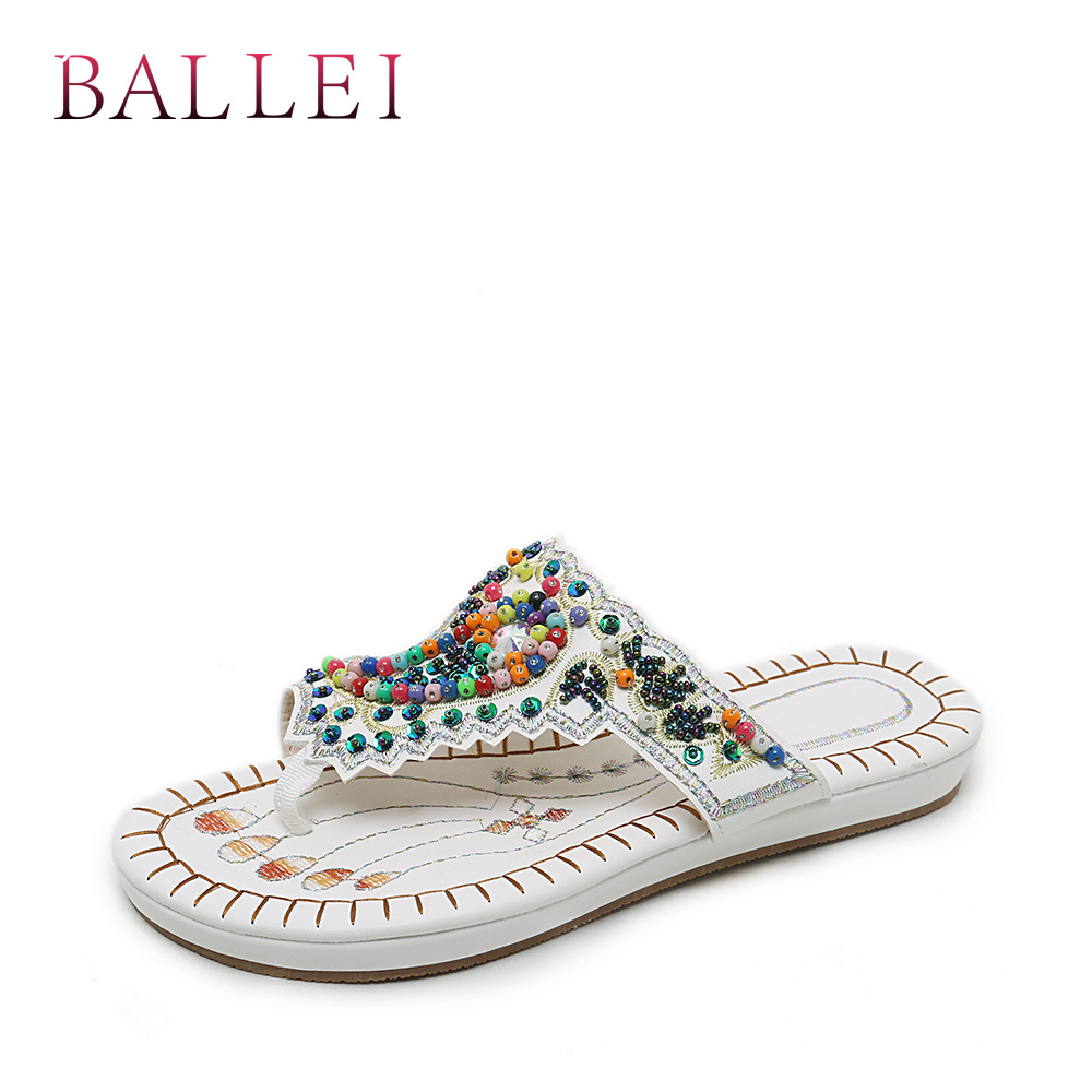 Women's Shoes Balle High Quality Woman Sandals Vintage Genuine Leather Comfortable Low Heel Shoes Elegant Lady Ethnic Retro Casual Sandals S71