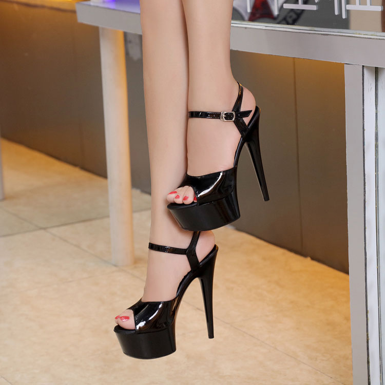 Women Shoes 2016 New 15cm High-heeled Sexy Fish Mouth with T-Taiwan Catwalk Models Show Car Show Female Sandals Bridal Shoes sexy temptation to 18 centimeters nightclub high heeled shoes catwalk show reception appeal colourful shoes dance shoes