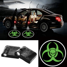 Volkrays 2 X Wireless Car Door Light Laser Welcome Ghost Shadow Projector  Logo for Fiat 500 500L Albea Panda Punto Palio