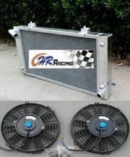 Aluminium Heizkörper + Dual Fan für Land Rover Discovery 4.0L V8 und Serie 1 3.9L V8 87-98