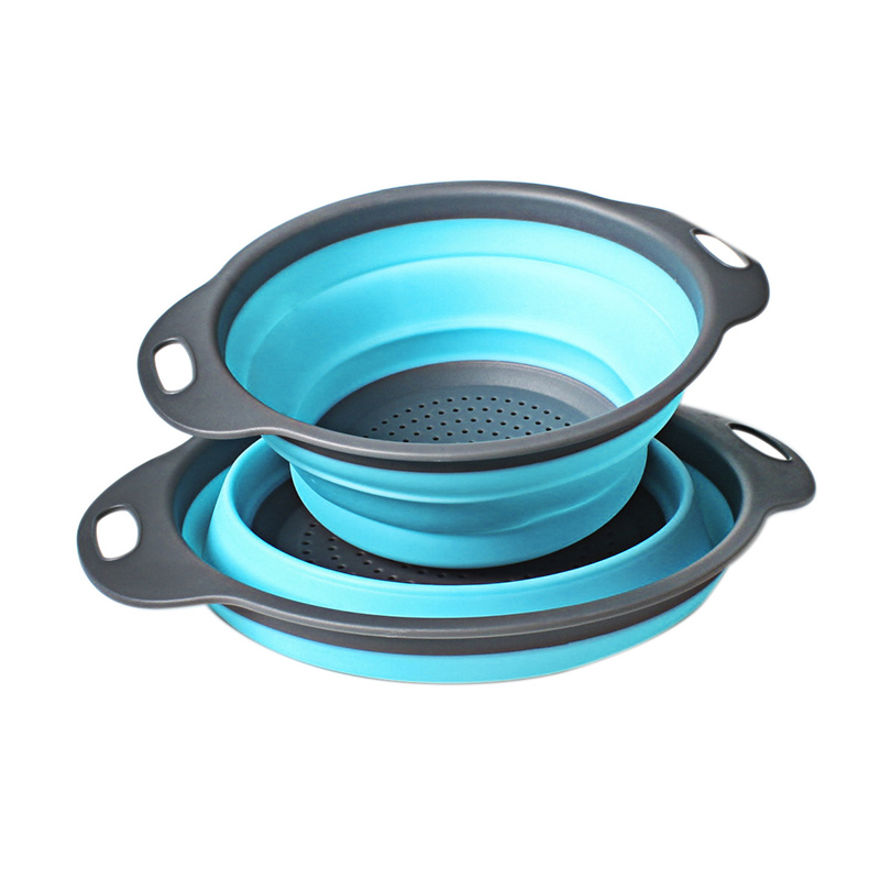 Multifunction Kitchen Collapsible Silicone Colander Fruit Vegetable Strainer Space Saver DAG ship in Colanders Strainers from Home Garden