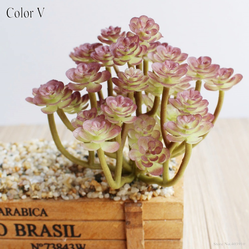 1PCS Artificial fleshiness Cactus purple plant real touch palm bonsai local landscape decorative flower for table decoration in Artificial Dried Flowers from Home Garden