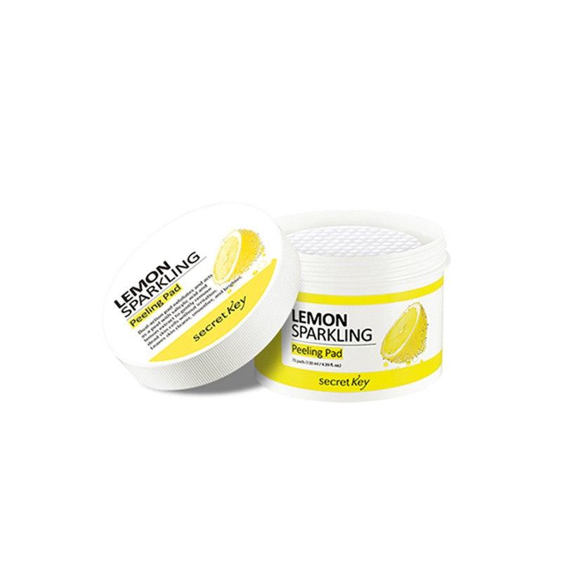 Secret Key Lemon Sparkling Peeling Pad 70pcs Face Cleaning Pad Blackhead Remover Makeup Deep Cleansing Korea Cosmetics цена
