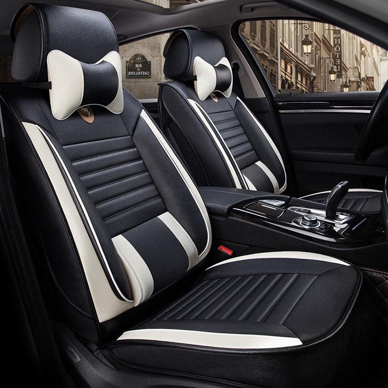 Leather auto universal car seat cover covers for toyota prado 120 150 land cruiser prado lc200