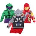 Homem de ferro Batman Superhero Crianças Criança Meninos Acolchoado Jaqueta de Moletom Com Capuz Da Camisola