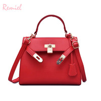 European Fashion Female Medium Tote bag 2018 New High quality PU Leather Women's Designer Handbag Lock Shoulder Messenger Bags