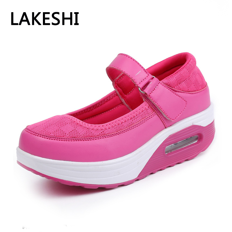 LAKESHI 2018 New Mary Janes Ladies Shoes Women Creepers Mesh Casual Flat Platform Shoes Comfortable Summer Women Shoes Solid instantarts women flats emoji face smile pattern summer air mesh beach flat shoes for youth girls mujer casual light sneakers