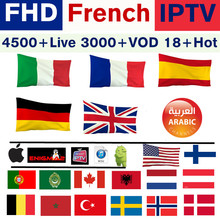 Europe IPTV abonnement Vigotv France ROYAUME-UNI Allemand Arabe Belgique Suède Français Pologne Canada USA smart TV Box IPTV M3U 4500 + en direct(China)