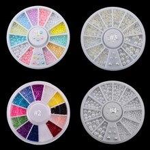 4 Styles 2mm/3mm Mix Colors (Beige/White) Nail Art Tips Half Pearls 3d Nail Beads Rhinestone Decoration DIY Beauty Salon Nail