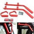 4-Door Front Rear Black Hard Mount Solid Steel Grab Handle GraBars  for Jeep JK Wrangler Unlimited 4 Door Black Red Grab Handles