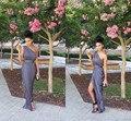 2015 recién llegado de dama de Honor vestidos gris un hombro gasa larga dama de Honor baratos vestidos mujeres vestidos envío gratis BD203