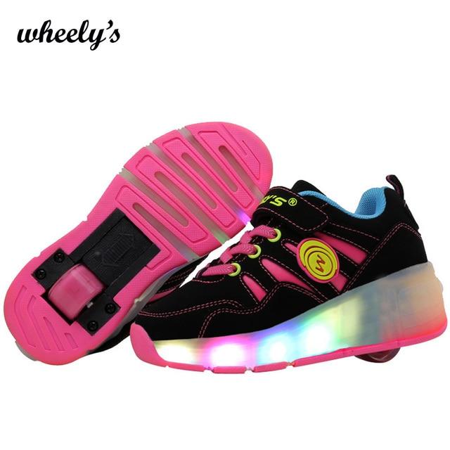 f81c458d936 Kinderen schoen Sneaker Met Wiel LED verlicht Knipperende roller skate  schoenen Kids Jongen Meisje Schoenen Zapatillas