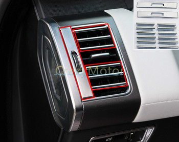 22pcs/set Interior Air Condition Vent Outlet Cover Trim For Land Rover Range Rover Sport 2014 2015 2016 car styling