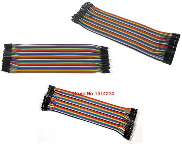 Dupont line 120pcs 20cm 2.54mm Spacing male to male + male to female and female to female jumper wire Dupont cable for arduino